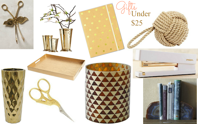 Affordable Gift-giving gifts under $25 for the office+home