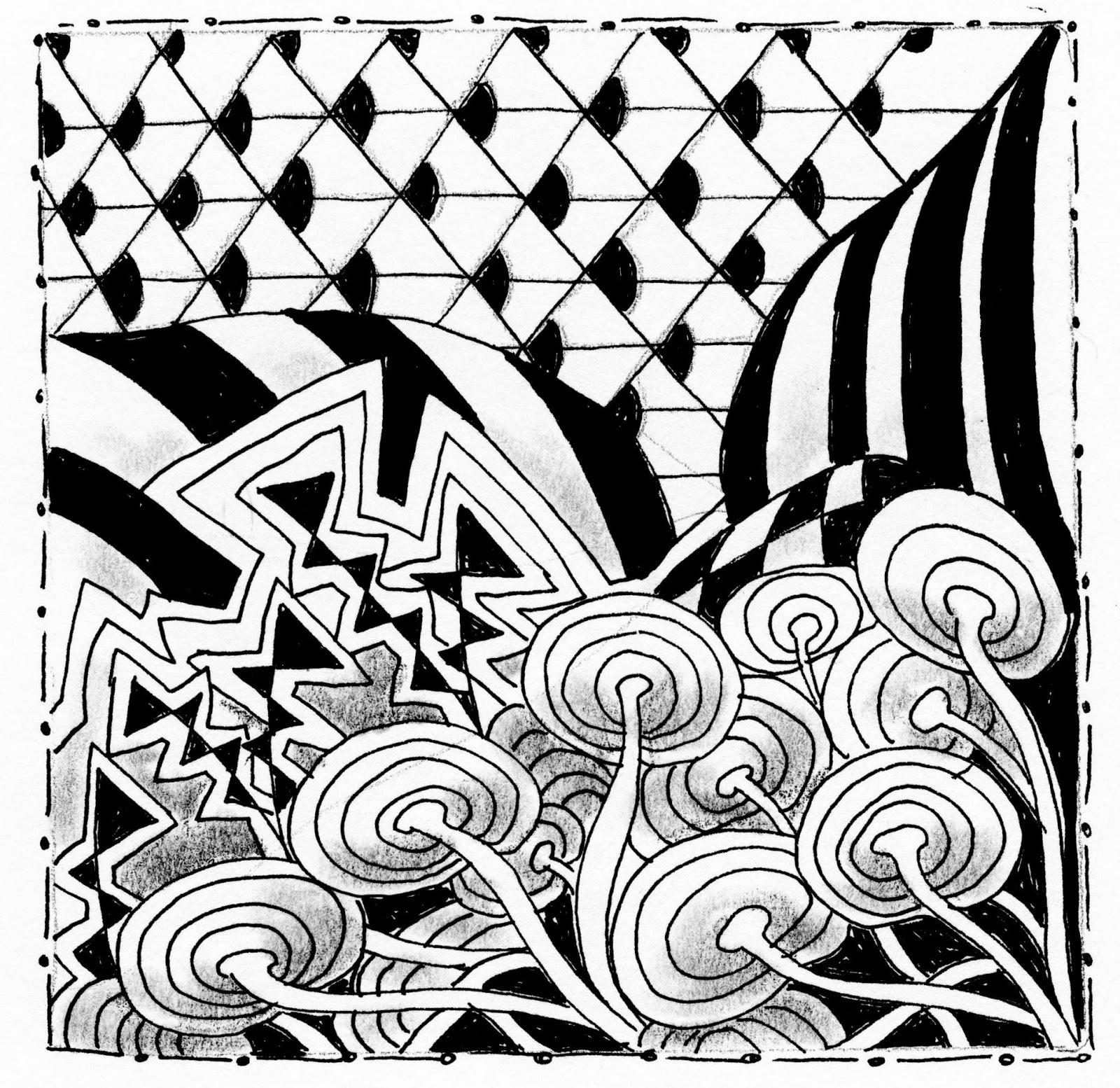 Zen Line Art : Roberta warshaw art and design zen the of tangling