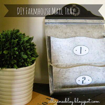 diy farmhouse mail tray makeover
