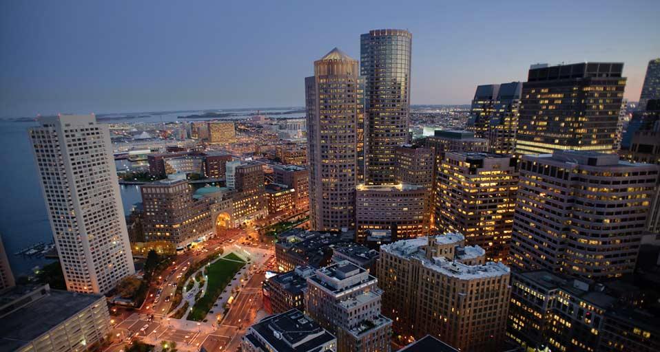 gallery for boston skyline wallpaper sunset