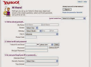 Bagaimana cara daftar Akun Yahoo?