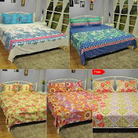 3D BedSheets Buy 1 Get 1 Free + 50% Cashback on Rs. 799  : Buytoearn
