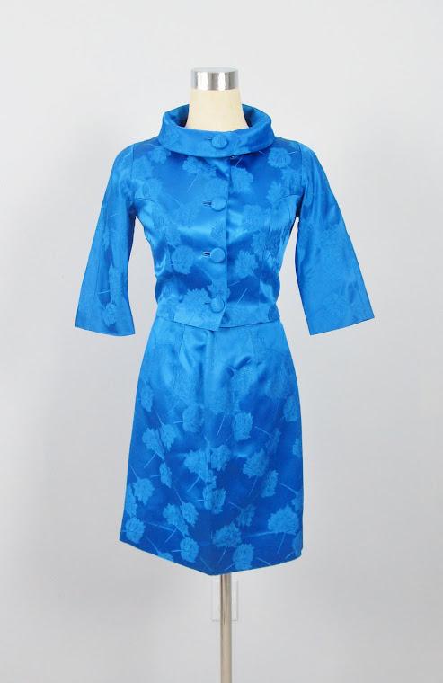 Vintage 1950's Classic Royal Blue Dress Suit