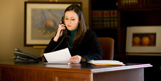 A Lawyer on a telephone.