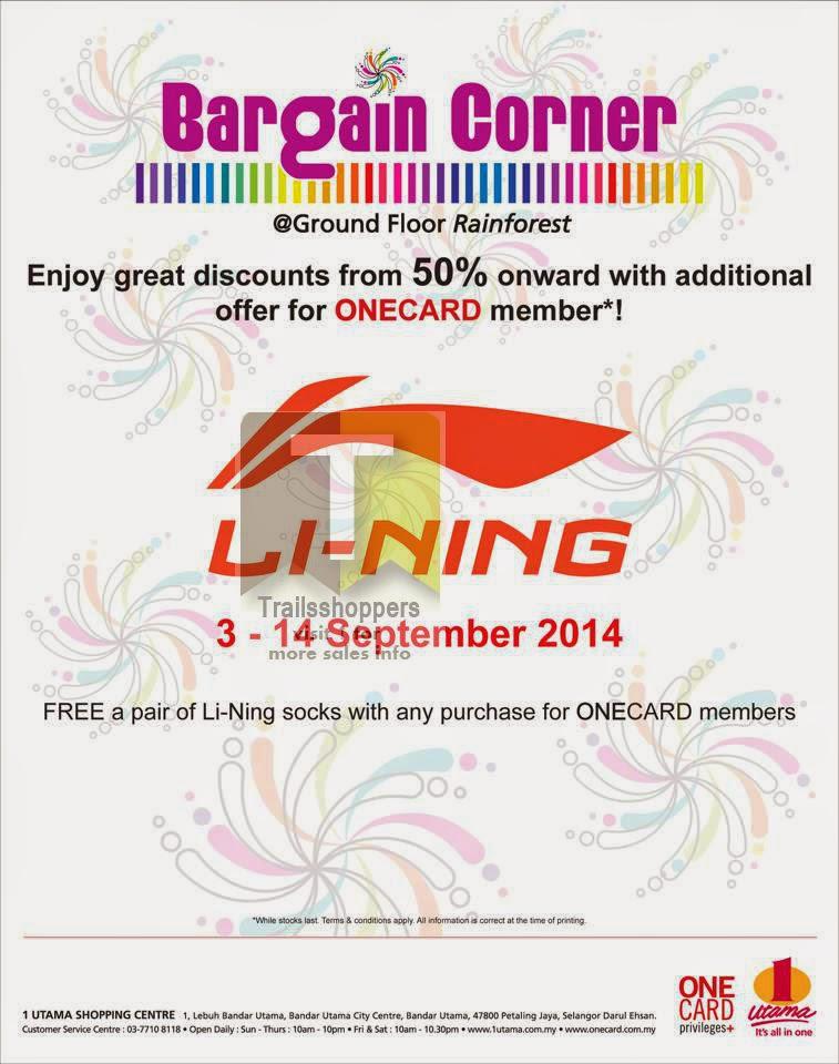 Li Ning Clearance Sale 1 Utama Mall Malaysia