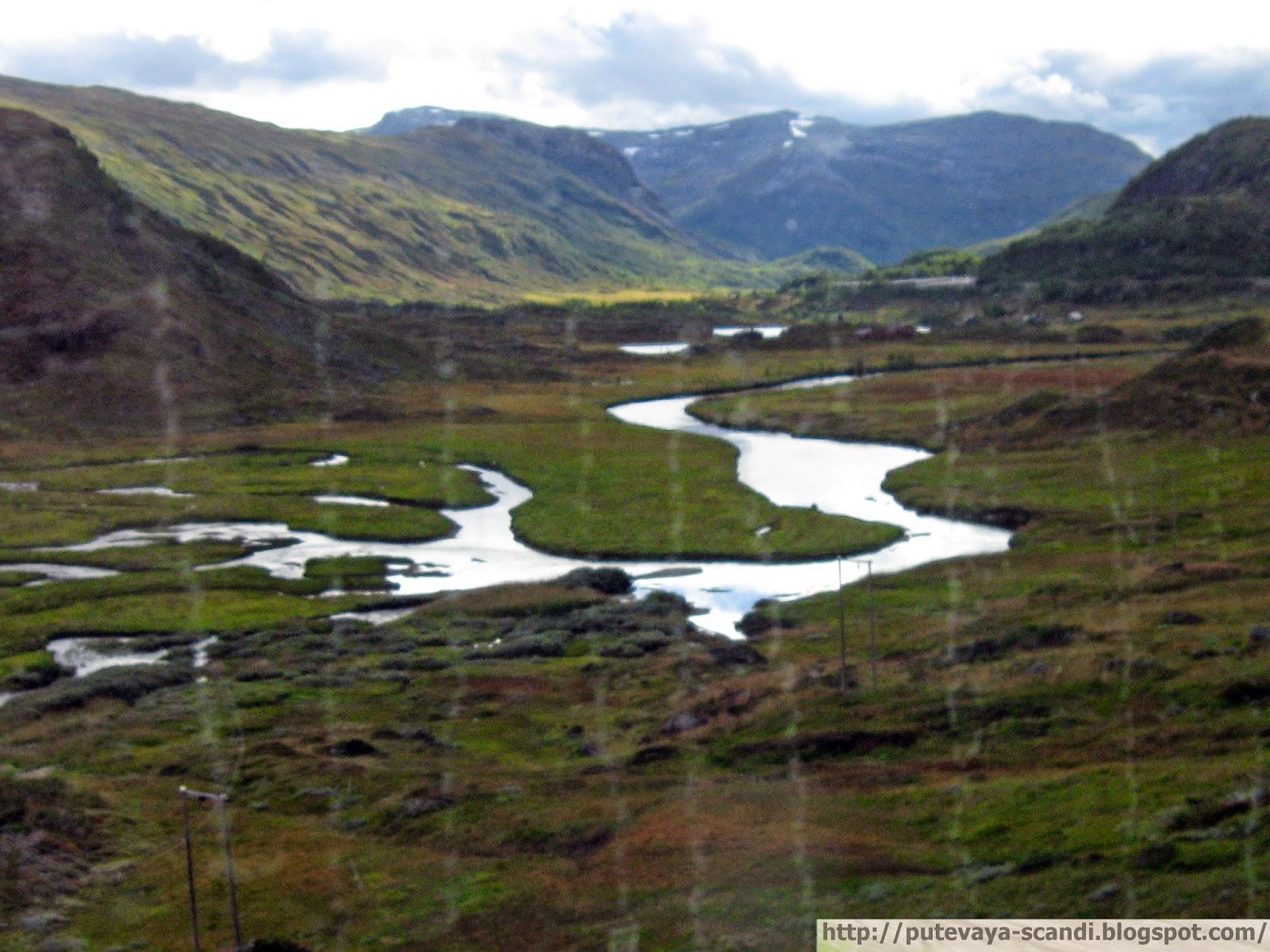 блестящая лента реки