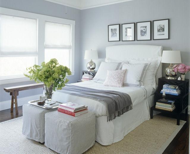 Quartos de casal com parede cinza lindos decora o e for Programa decoracion habitaciones
