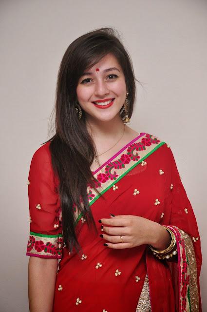 Priyal Gor in Beautiful Red Saree Sizzling Pics t Saheba Sumanyam movie premier show