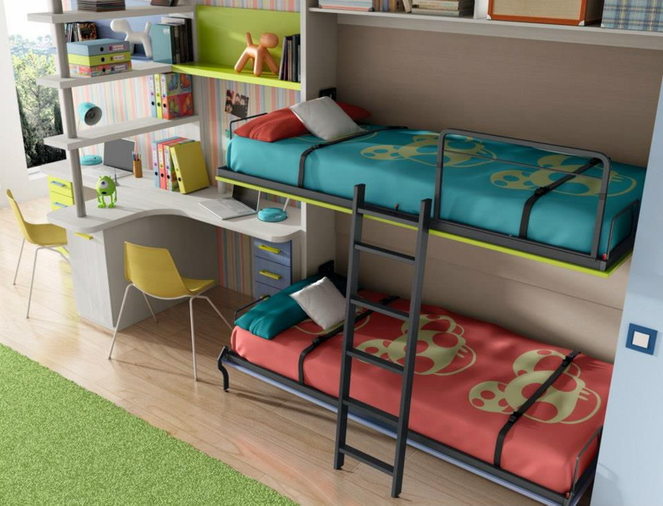 Amueblar casas peque as for Habitaciones con literas