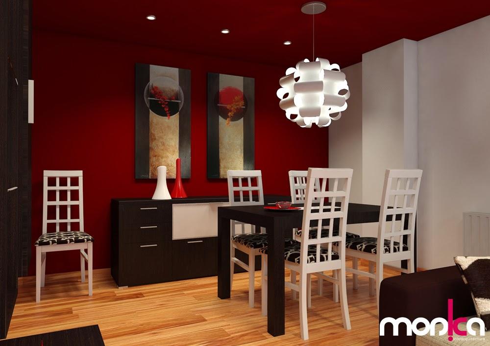 Monica infoarquitectura infograf as comedor sal n for Muebles de oficina color wengue