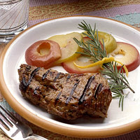 Herbed Lamb with Apples