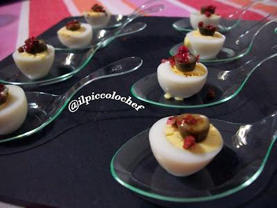 uova di quaglia con capperi impepati