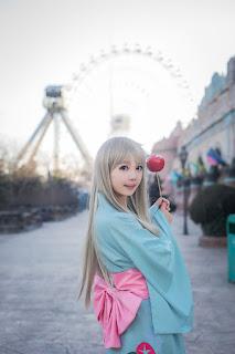 [足控福利]可愛本間芽衣子蘿莉唯美和服cosplay,香港交友討論區