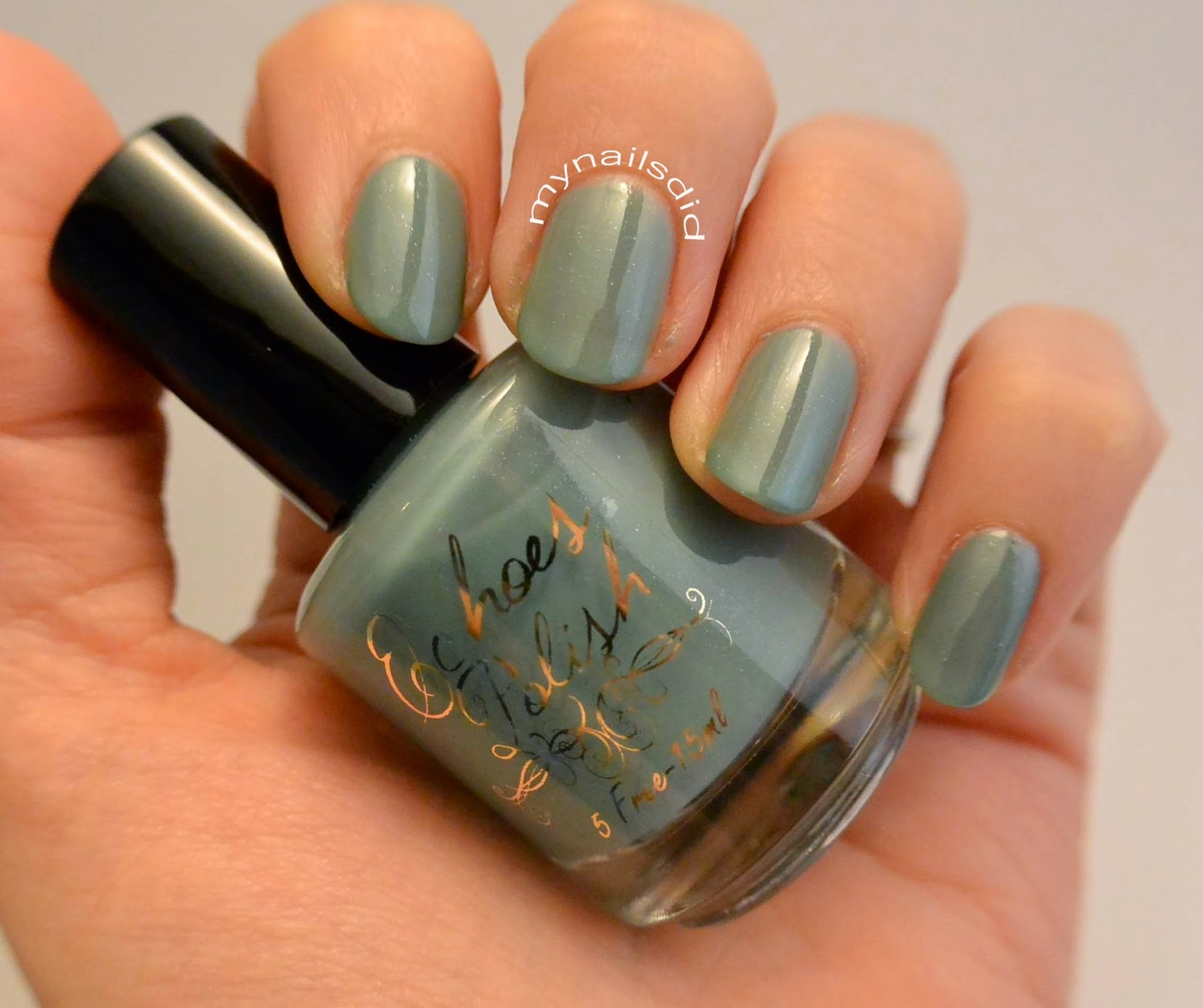 My Nails Did; Echoes Polish Spearmint Away Swatch