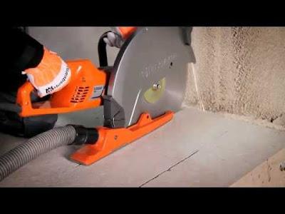 Алмазная резка бетонного полу вплотную к стене
