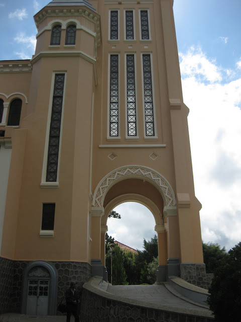 Entrance to the cathedral of Dalat