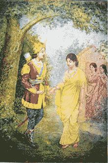 Dusyanta bertemu Shakuntala