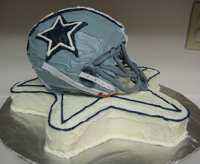 3D Dallas Cowboys Football Helmet Cake - Side 2