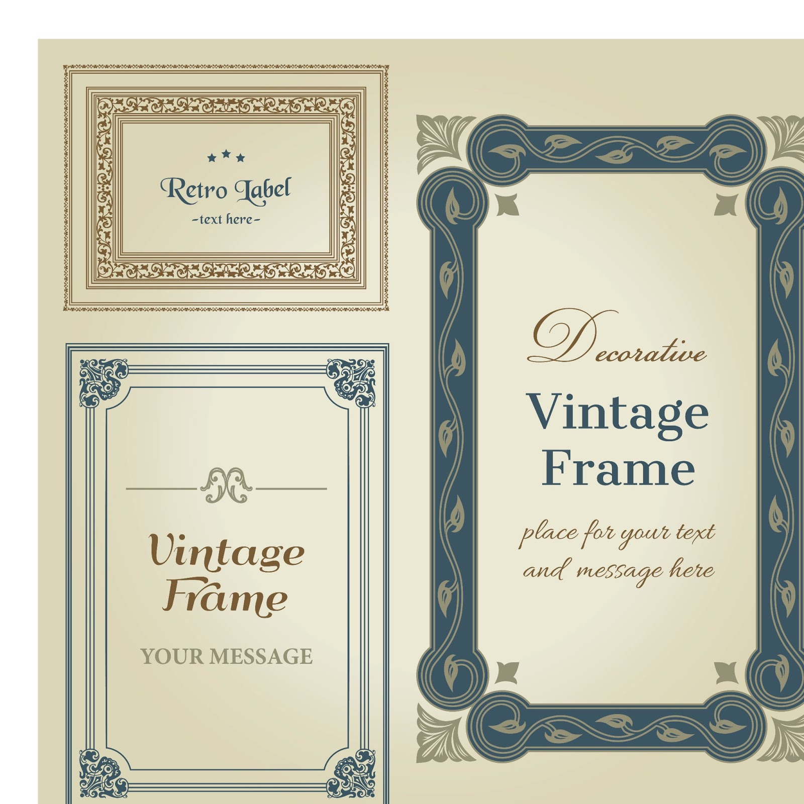 Decorative vintage wedding frame vector wedding card background decorative vintage wedding frame vector junglespirit Images