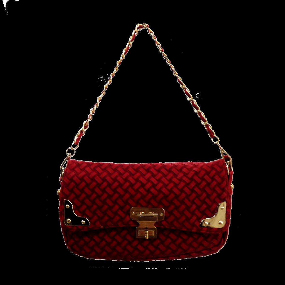 Bolsa Dourada Com Corrente : Bolsa vermelha corrente dourada car interior design