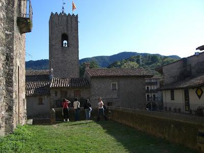 Santa Pau church in La Garrotxa