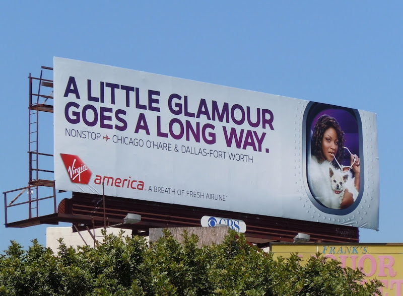 Virgin America little glamour billboard