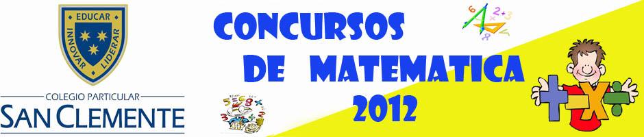 CRUCIGRAMAS MATEMATICOS 2012