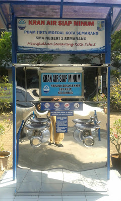Kran air siap minum SMA N 1 Semarang