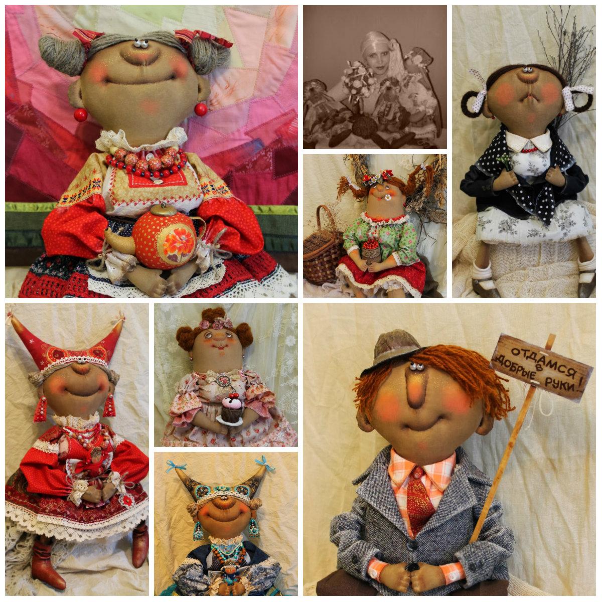 Текстильные куклы Татьяны Козыревой