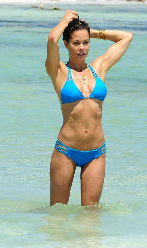 Brooke Burke in Bikini in Mexico (May 2013).<br>Brooke lets readers know what really goes on behind the scenes of her surprisingly ordinary life as a celebrity mom, and how she manages to make it all work (on a good day!).