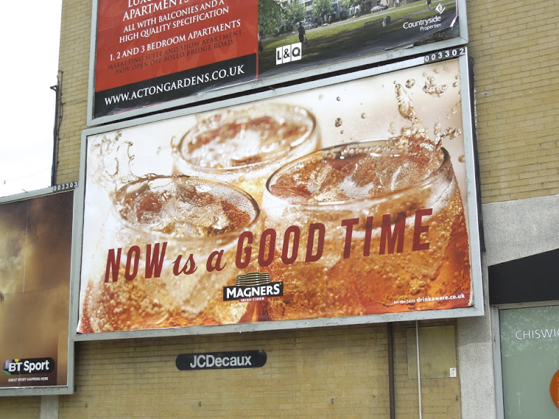 Magners Now is a good time billboard