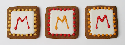 square initial cookies