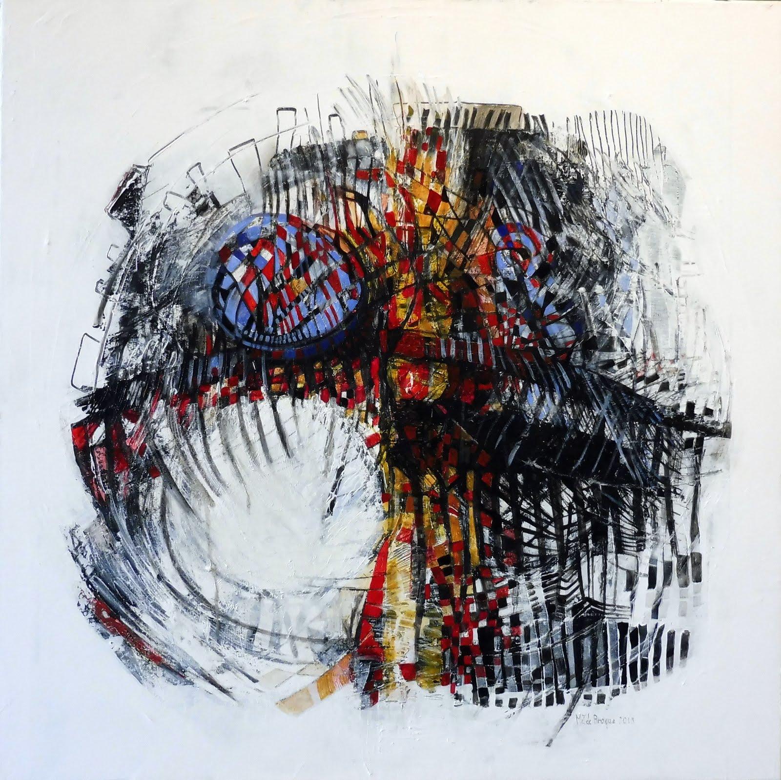 La musique du silence - 80 x 80 cm - 2018