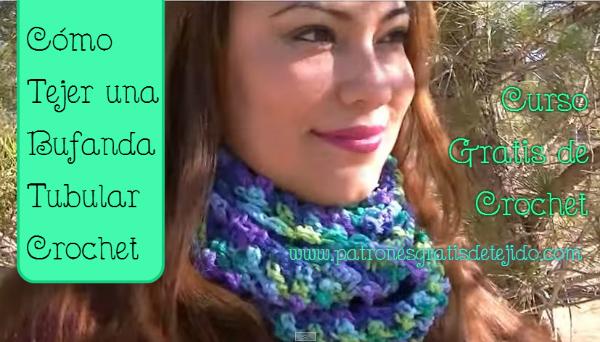 Cómo tejer al crochet una bufanda o cuello tubular paso a paso