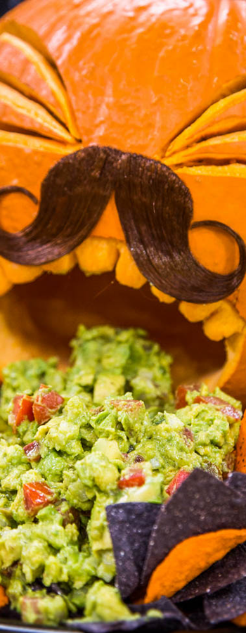 Spooky Totally Creepy Guacamole via Lilyshop Blog
