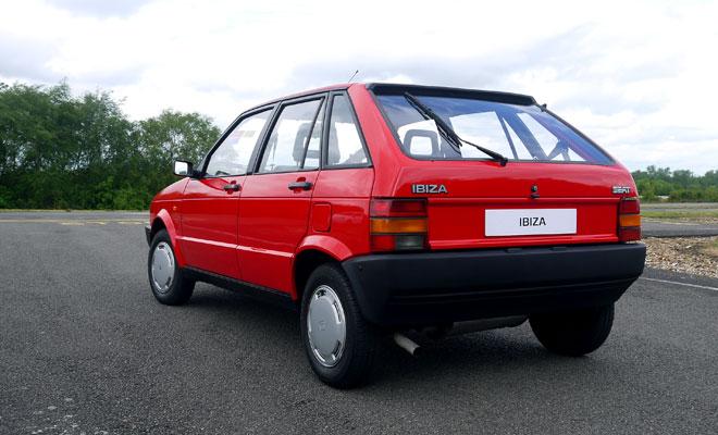 Mk1 Seat Ibiza rear view