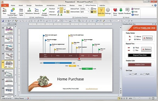 office timeline med Buat Timeline Di PowerPoint Dengan Office Timeline Add in