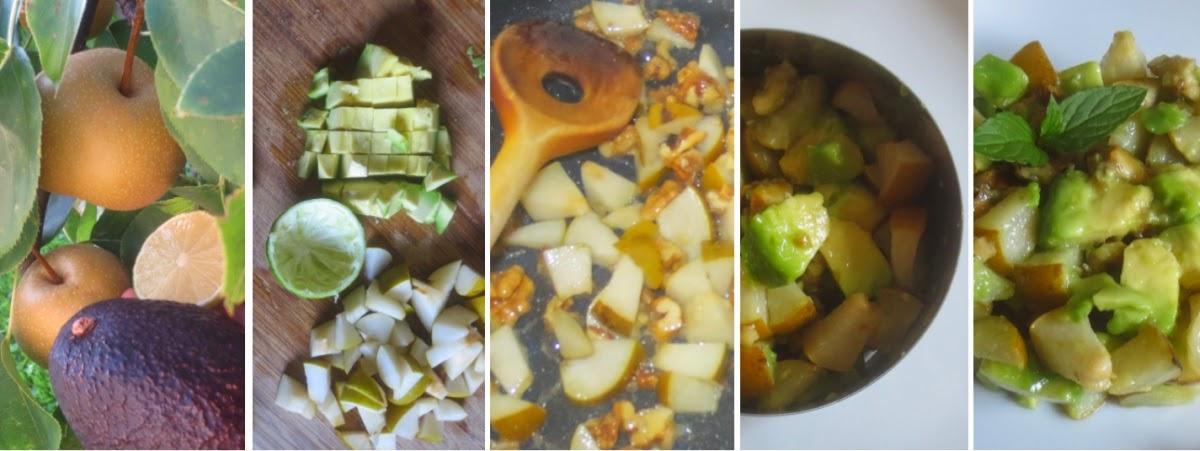 Zubereitung Avocado-Birnen-Dessert