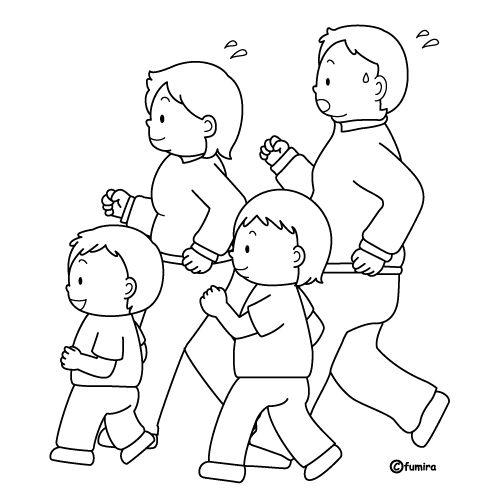 Ninos haciendo ejercicios fisicos para colorear - Imagui