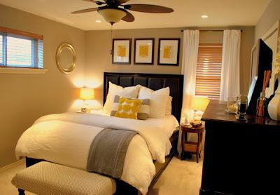 Decoração de quartos de casal muito pequenos