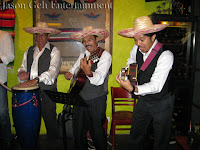 The Mariachi / Mexican band performing live at the event
