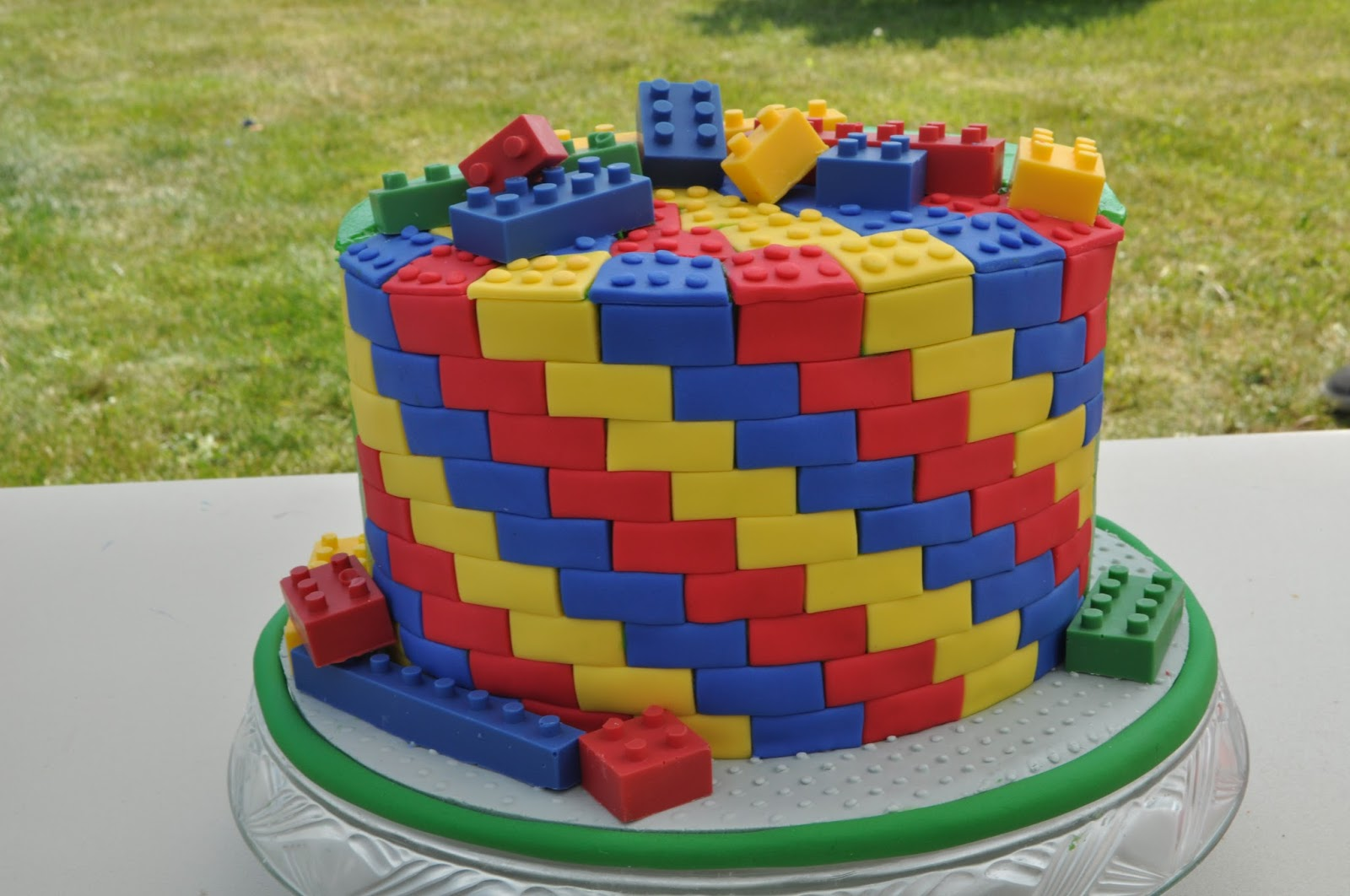 Peach Of Cake Lego Birthday Cake