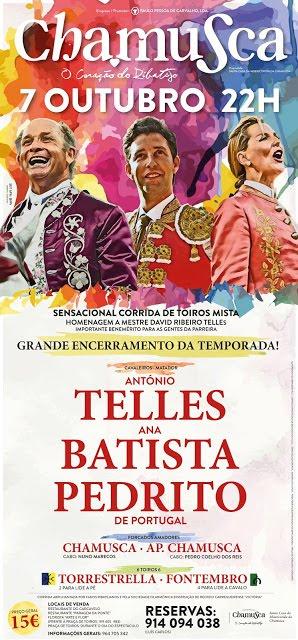 CHAMUSCA (PORTUGAL) 07-10-2018. CORRIDA DE TOUROS MIXTA.