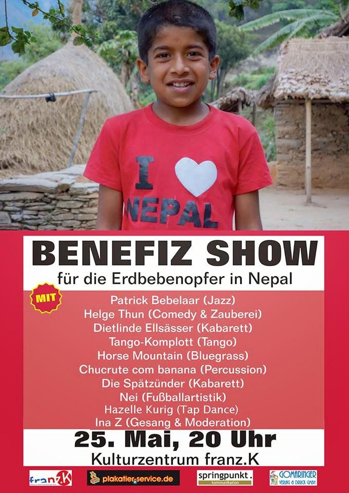 Benefiz Show für die Erdbebenopfer in Nepal