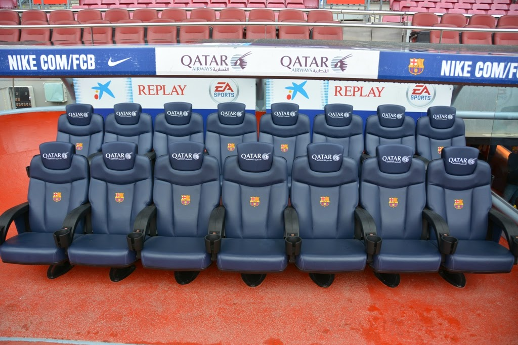 Camp Nou Barcelona Player seats