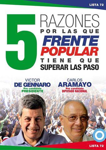 5 razones por las que el Frente Popular debe superar las PASO