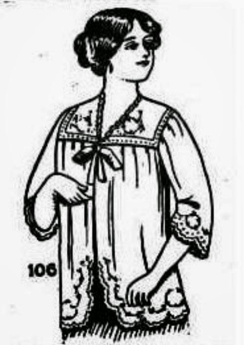 1914 maternity dressing jacket