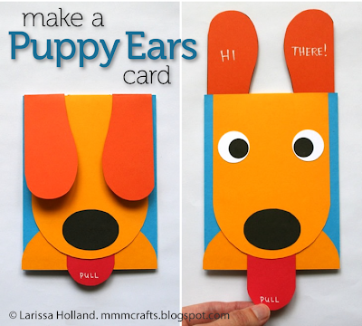 Make A Puppy Ears Card Craft Camp Skip To My Lou