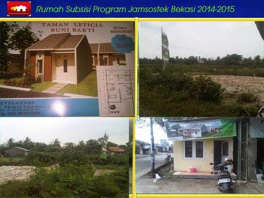 Rumah Subsidi Tanpa DP | Program Jamsostek BPJS Buni Bakti Babelan Bekasi