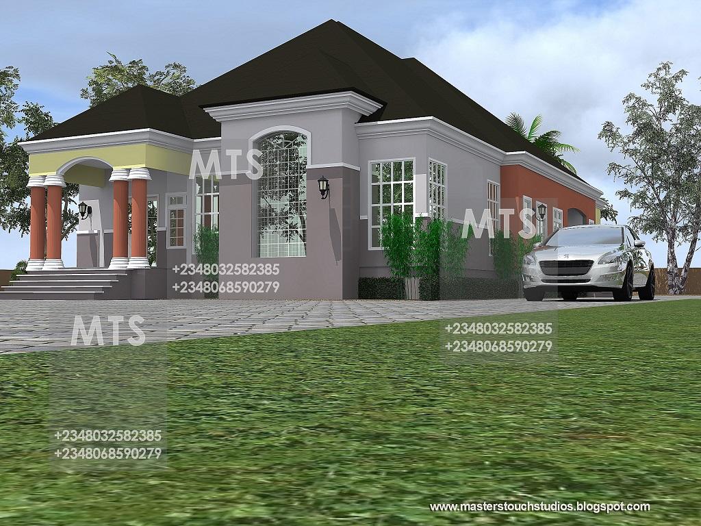 Mr daniel 4 bedroom bungalow for Bungalow show homes